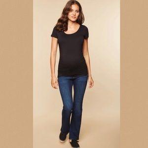 Indigo Blue Jeans - Indigo Blue Maternity Dark Blue Jeans in Large